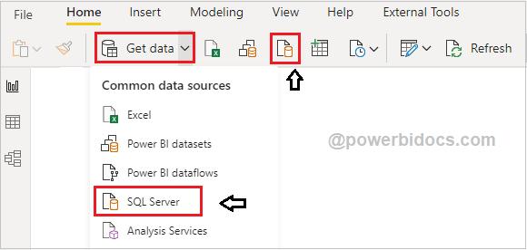 Get Data from SQL in Power BI