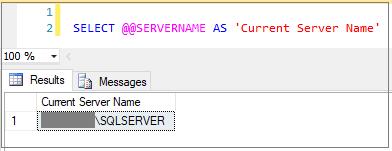 SQL Configuration function- @@ServerName