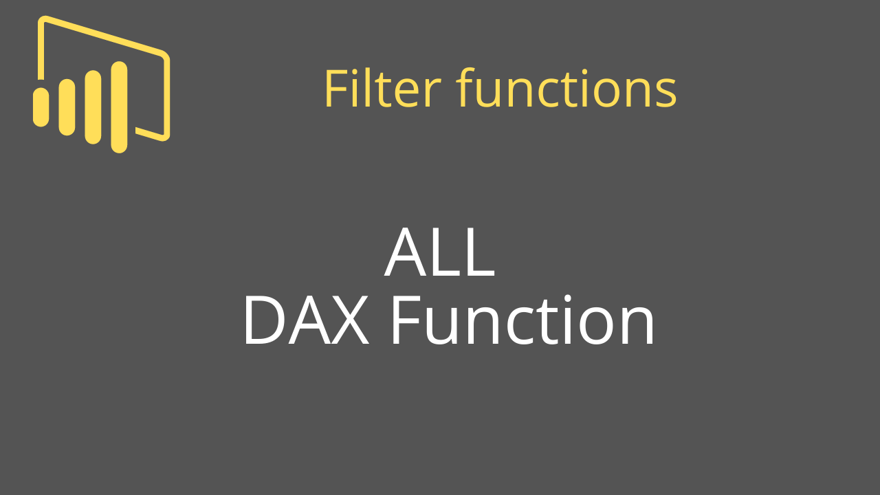 ALL DAX Function