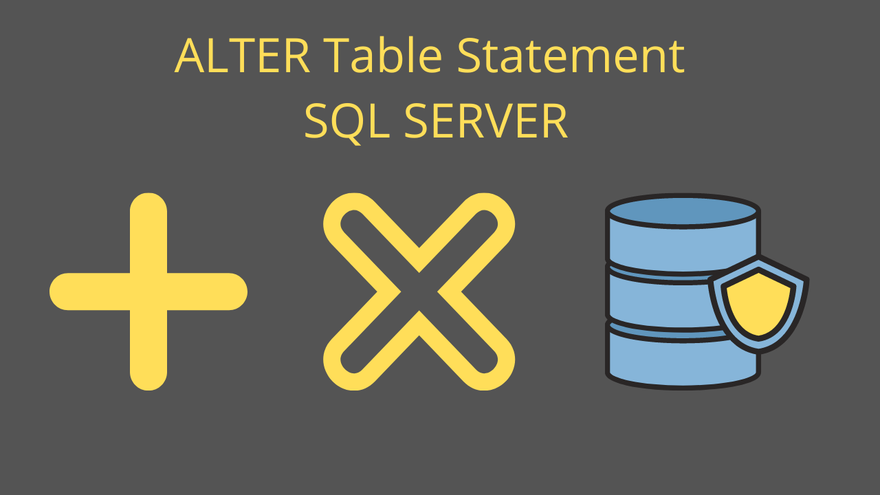 ALTER Table Statement SQL SERVER
