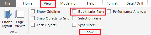 Power Bi Bookmark