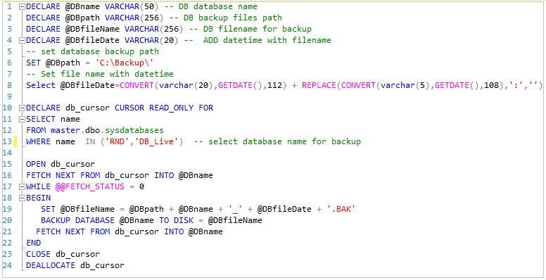 SQL full database script