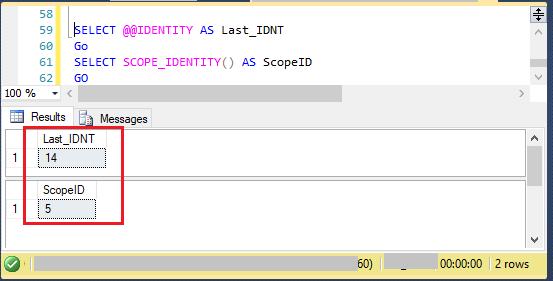 @@IDENTITY VS SCOPE_IDENTITY()