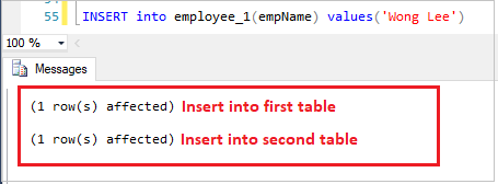 Insert Record into table