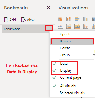 Add & Rename Bookmarks