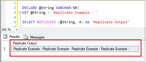 SQL Replicate Function
