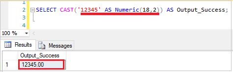 SQL Cast function