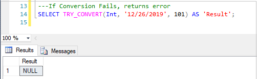 SQL TRY_CONVERT() function