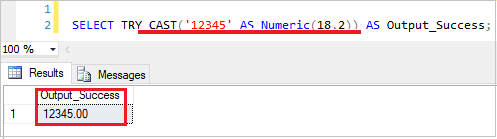 SQL Try_Cast Function