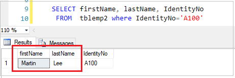 Select Data in SQL