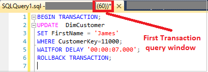 Update Transaction with Roll back