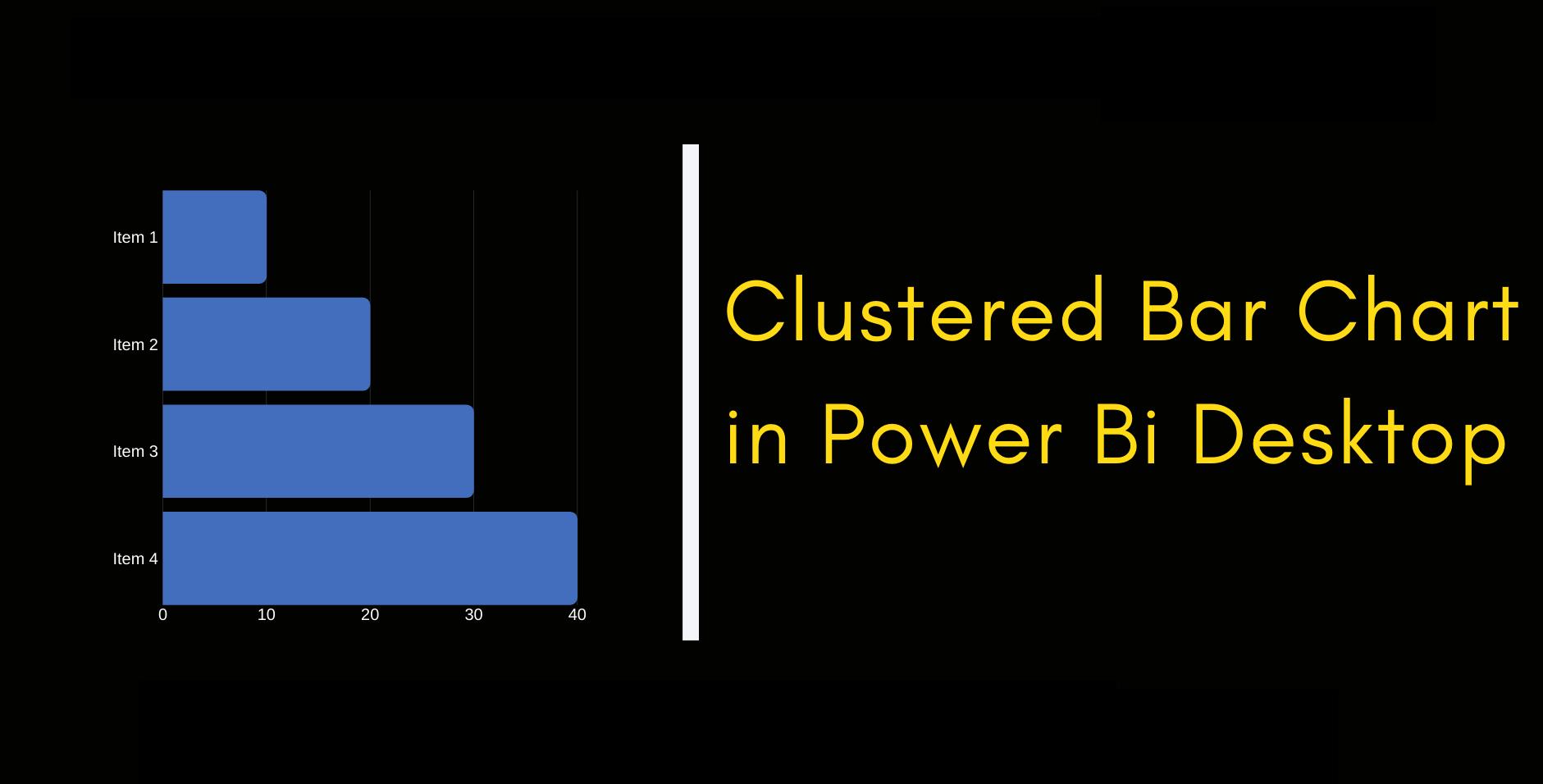 Clustered Bar Chart in Power Bi Desktop