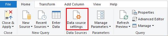 Datasource setting