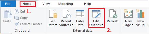 Edit Queries in Power Bi