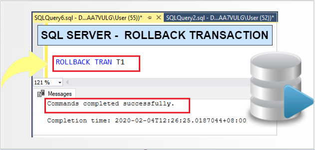 SQL ROLLBACK-TRANSACTION