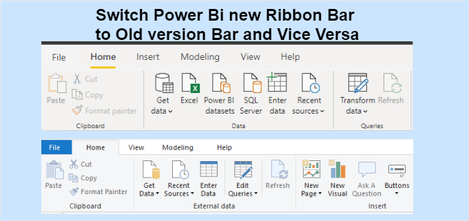 Power Bi Ribbon Format Bar