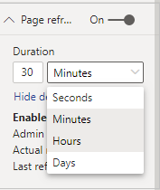 Page Refresh Setting