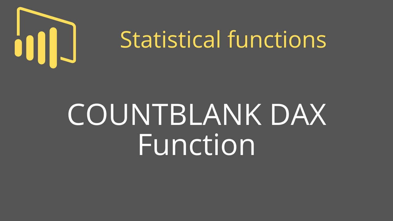 COUNTBLANK DAX Function