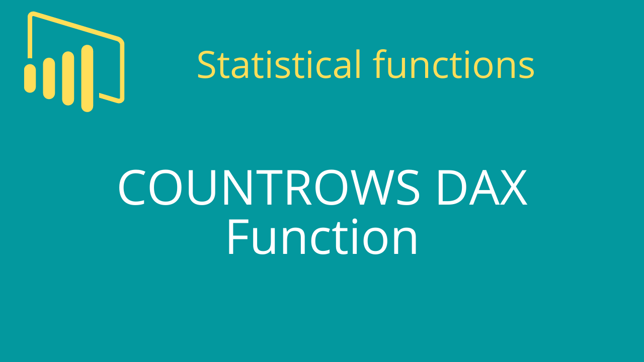 COUNTROWS DAX Function