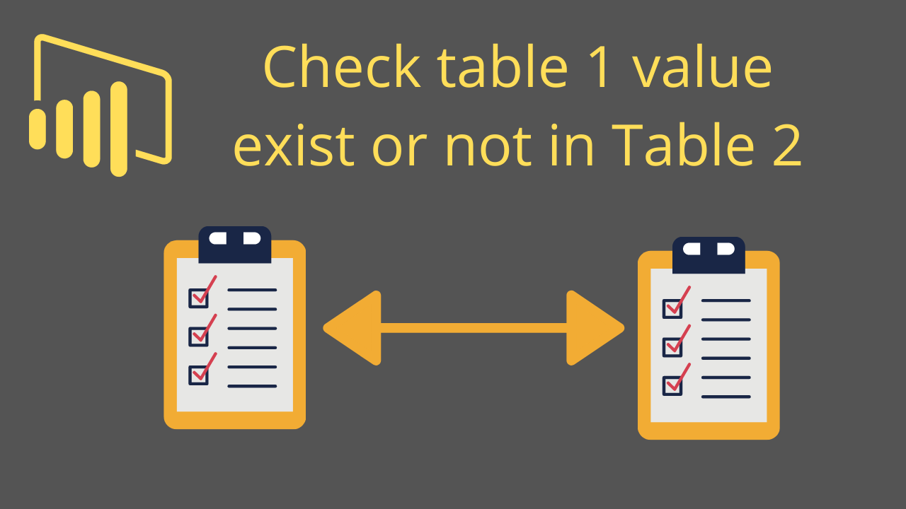 Check table 1 value exist or not in Table 2