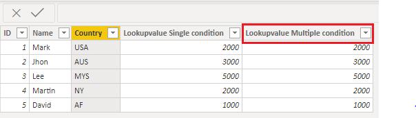Lookupvalue multiple condition