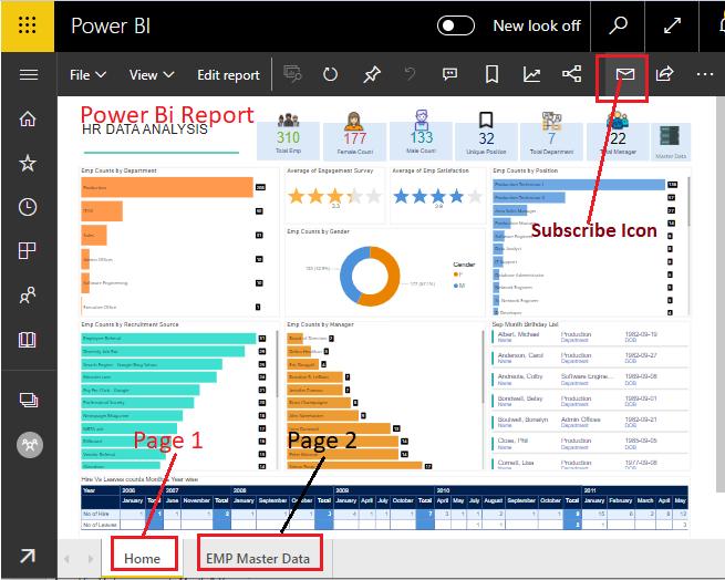 Power Bi Report Subscribe