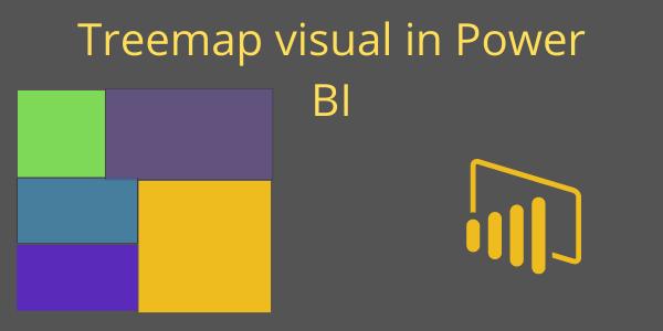 Treemap visual Power BI