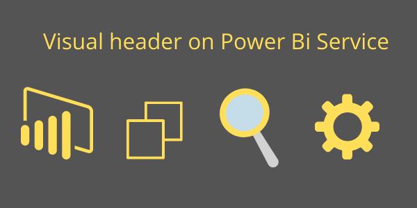 Visual header on Power Bi Service