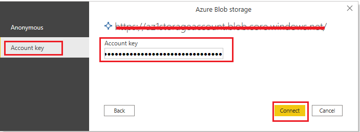Account Key name Power BI