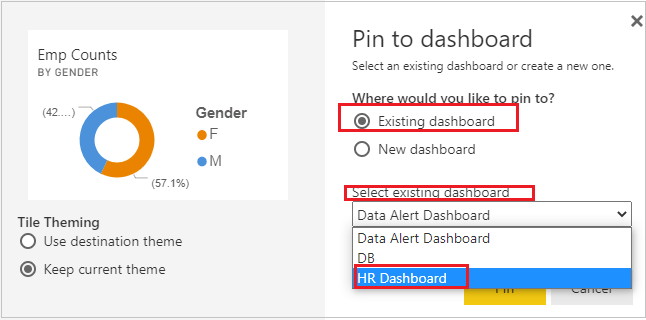 Add visual to dashboard