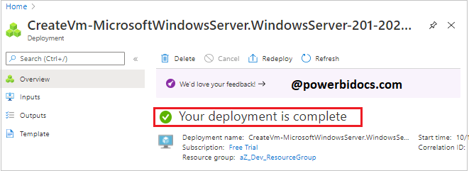Azure VM deployment