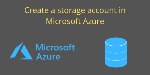 Azure storage account banner