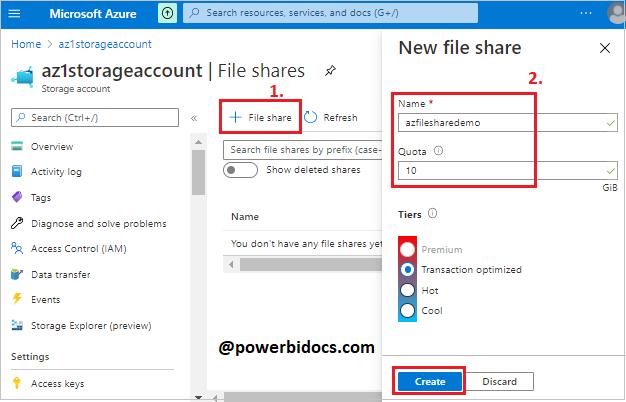 Create a file share