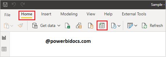 Create table in Power BI