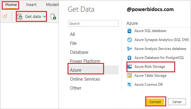 Get Data Azure Blob to Power BI