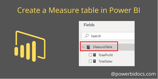 Measure table banner