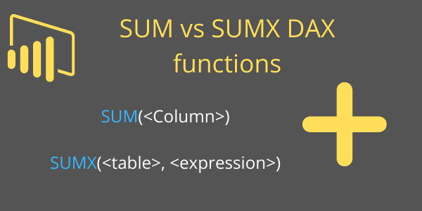 SUM vs SUMX DAX Power BI