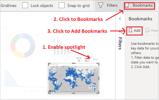 Spotlight With Bookmarks