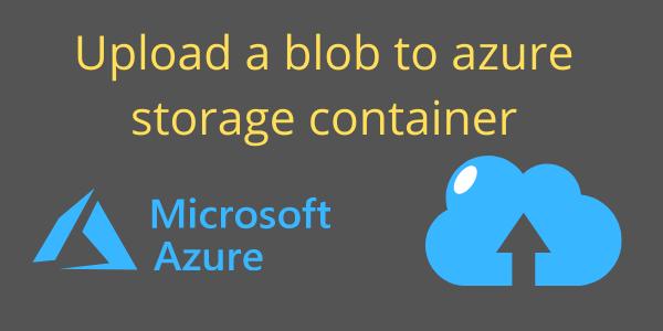 add blob to storage container