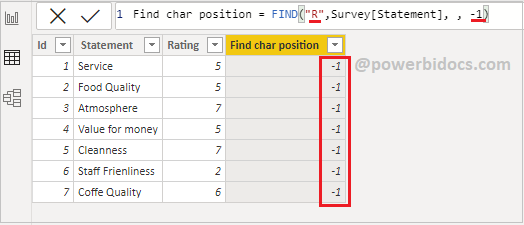 Find DAX function example