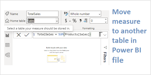 Move measure in PowerBI example