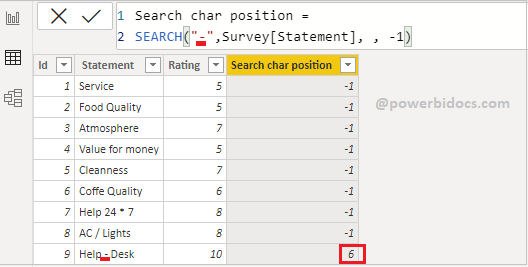 Search DAX with wildcard