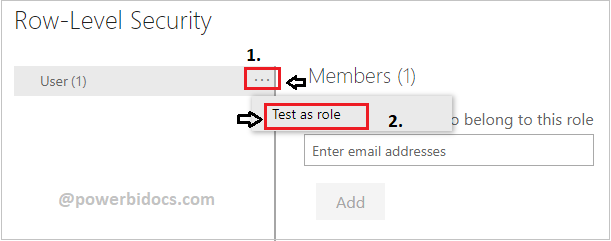 Test role in Power BI service