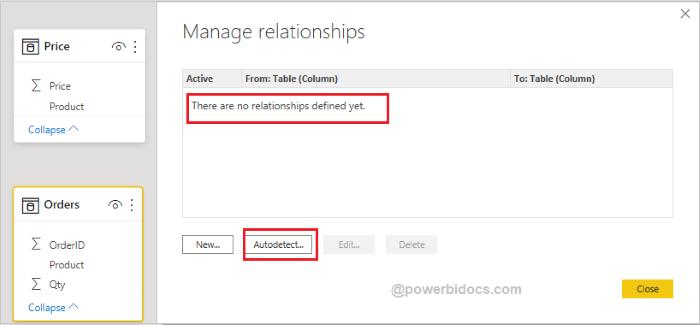 Manage Relationship Autodetect