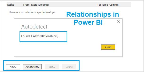 Relationships examples in Power BI
