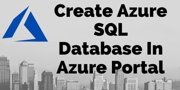 Add SQL DB in Azure