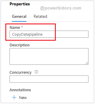 Assign name to Pipeline