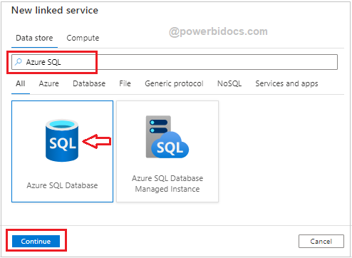 Choose Azure SQL Data Base