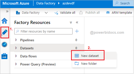 Create datasets