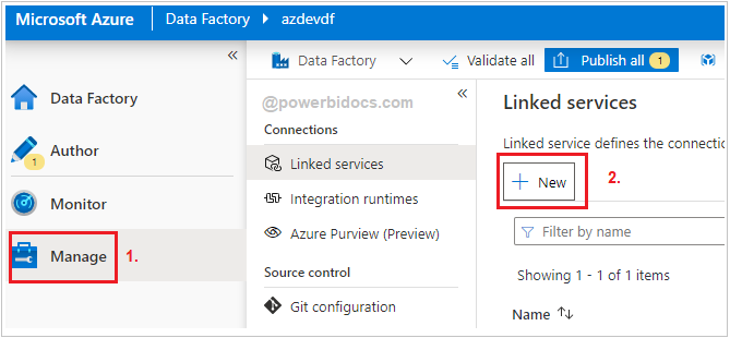 New Linked Service ADF